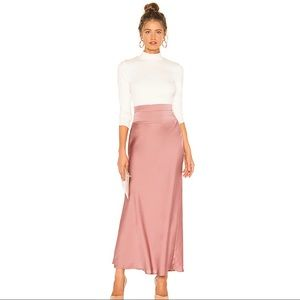 Free People Normani Bias Skirt in Dusty Mauve